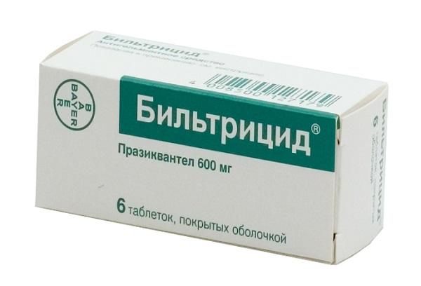 Бильтрицид таблетки