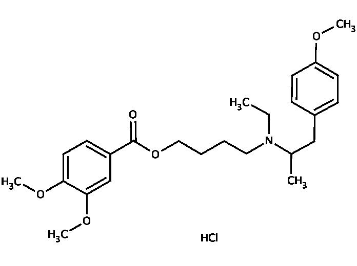 Мебеверина гидрохлорид формула
