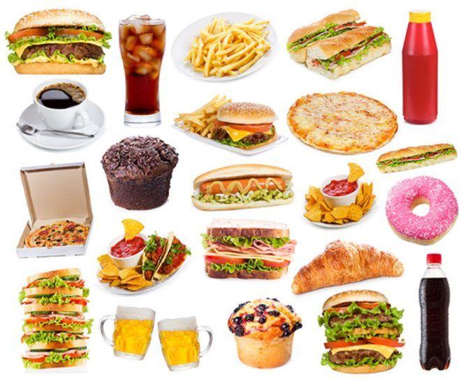 Список вредной еды