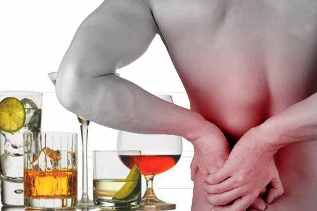 Боль в почках после алкоголя