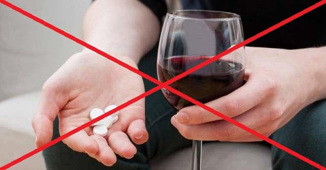 ни в коем случае нельзя употреблять Аскофен вместе с алкоголем!