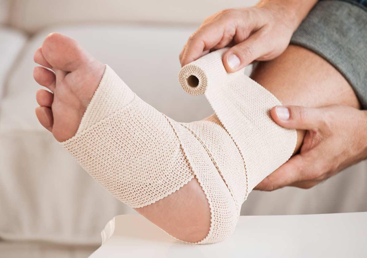4 правила наложения эластичного бинта на голеностоп. Перечень типичных ошибок