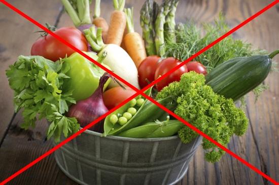 Отказ от овощей перед колоноскопией