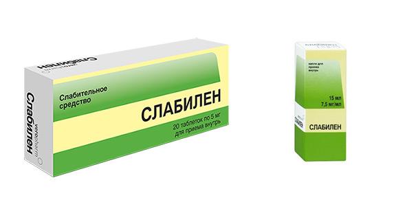 Таблетки и капли Слабилен