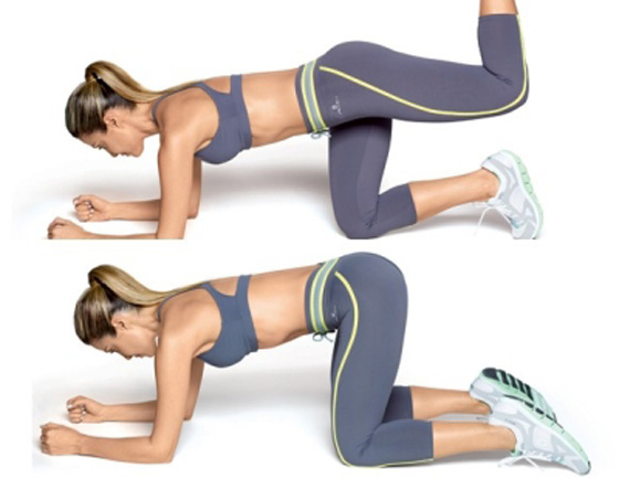 Упражнение с вытягиванием ног