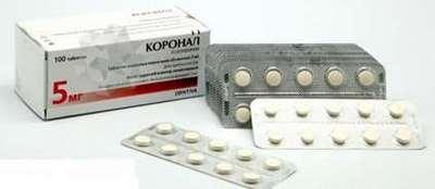Посмотрите инструкцию по применению препарата Коронал.