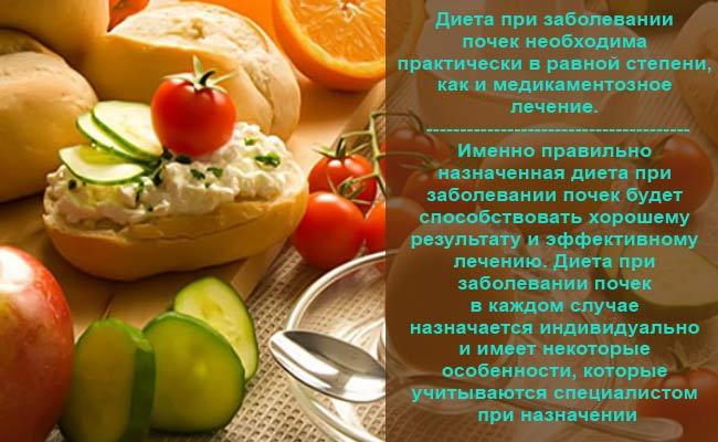 Правильное питание при почечных заболеваниях