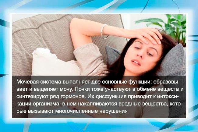 Интоксикация организма при ПН